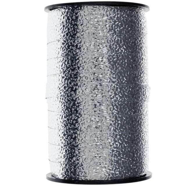 "Wstążka do balonów ""Curling"", srebrna, SANTEX, 10mm / 25m"