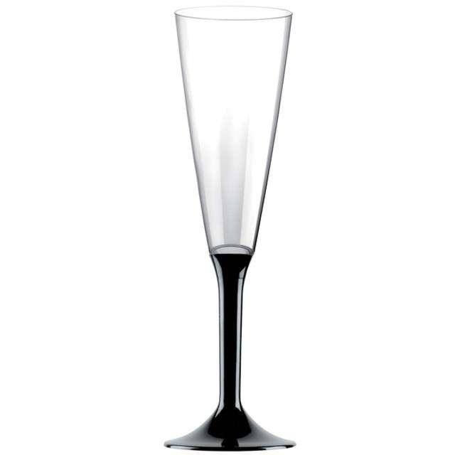 """Kieliszki jednorazowe """"Szampan Classic"""", czarne, GoldPlast, 160 ml, 10 szt"""