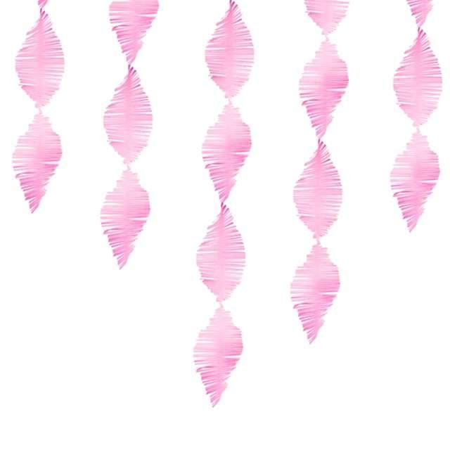 "Girlanda ""Frędzle"", różowy, PartyDeaco, 300 cm"