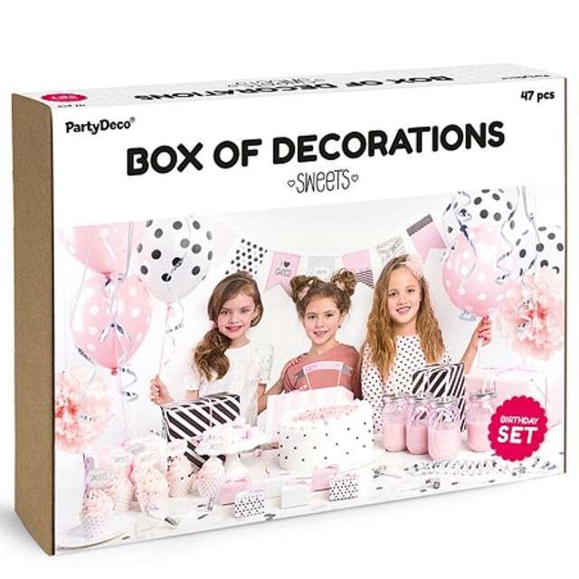 "Zestaw dekoracji ""Sweets"", PartyDeco"