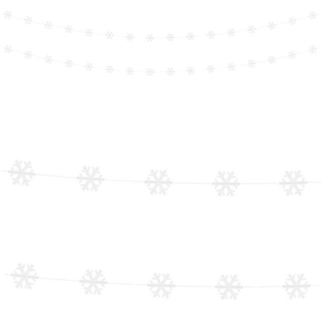 """Girlanda """"Śnieżynki"""", biała, PartyDeco, 180 cm"""