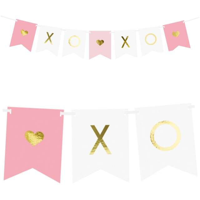 "Baner ""Xo Xo"", mix, PartyDeco, 95 cm"