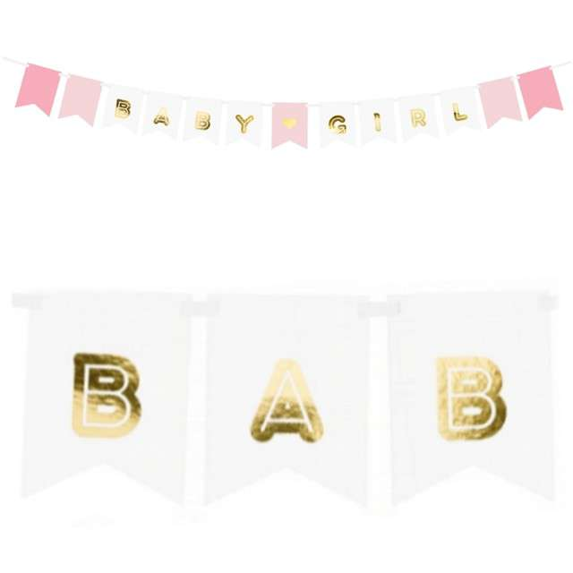 "Baner ""Baby Girl"", mix, PartyDeco, 175 cm"