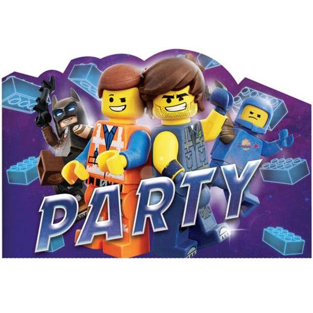 """Zaproszenia urodzinowe """"Lego Movie 2"""", AMSCAN, 8 szt"""