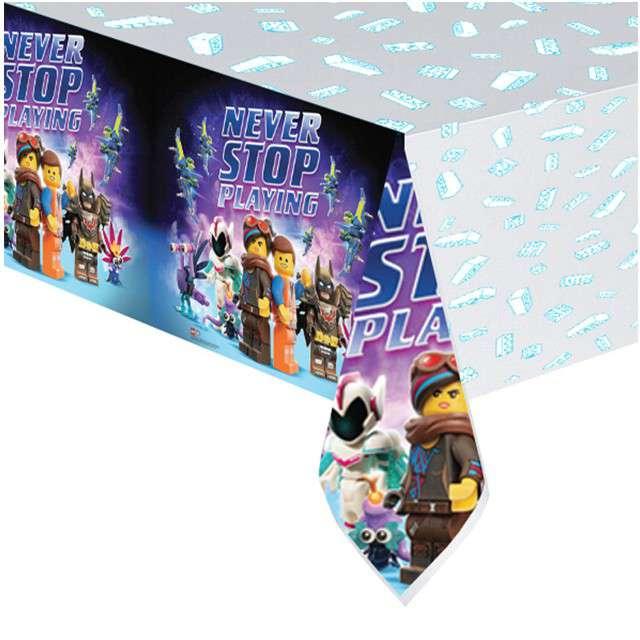 """Obrus foliowy """"Lego Movie 2"""", AMSCAN, 180x120 cm"""