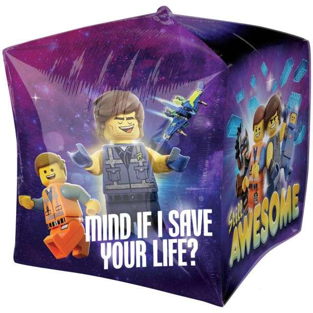"""Balon foliowy """"Lego Movie 2"""", AMSCAN, 15"""" QBZ"""