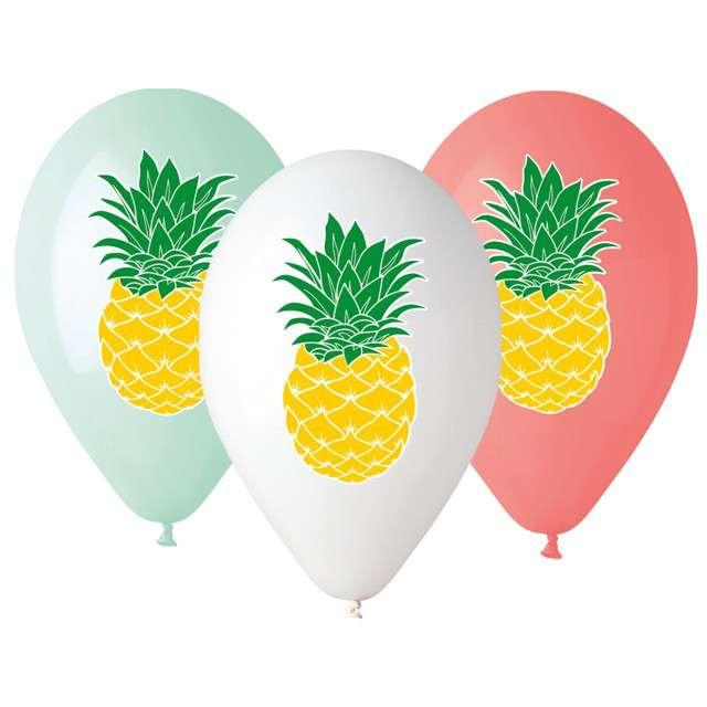 "Balony ""Ananas"", mix, Gemar, 13"", 5 szt"