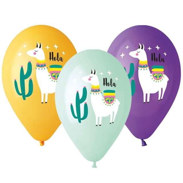 """Balony """"Lama"""", mix, Gemar, 13"""", 5 szt"""