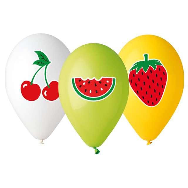 """Balony """"Owoce"""", mix, Gemar, 13"""", 5 szt"""