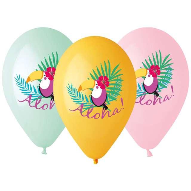 """Balony """"Tukan"""", mix, Gemar, 13"""", 5 szt"""