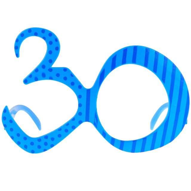 """Okulary party """"30 urodziny"""", niebieskie, GODAN"""