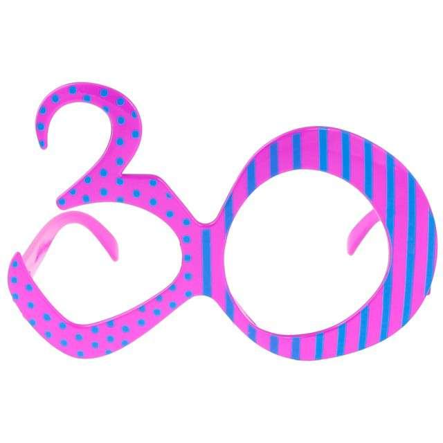 """Okulary party """"30 urodziny"""", różowe, GODAN"""