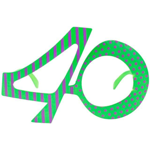 """Okulary party """"40 urodziny"""", zielone, GODAN"""