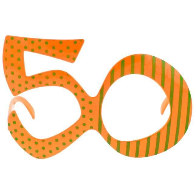 """Okulary party """"50 urodziny"""", pomarańczowe, GODAN"""