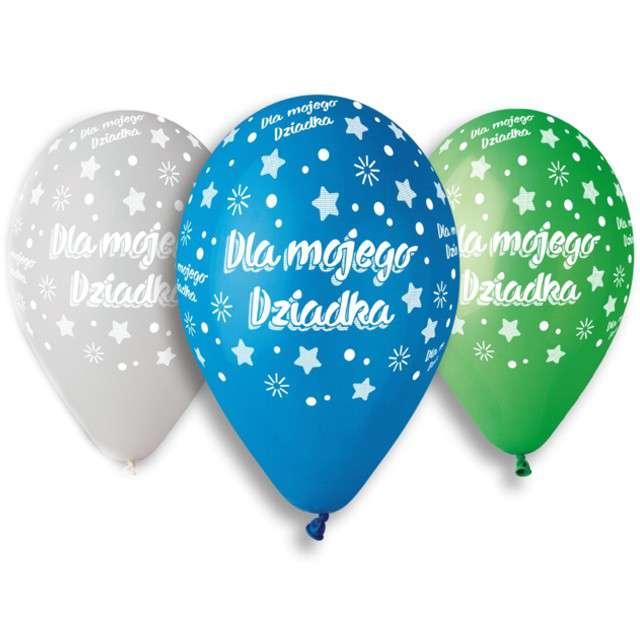 """Balony """"Dla Mojego Dziadka"""", mix, Gemar, 13"""", 5 szt"""