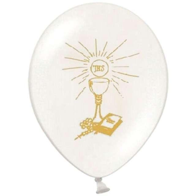 "Balony 12"", ""I Komunia Św."", STRONG, White, 50 szt"