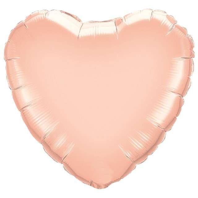 """Balon foliowy """"Serce"""", różowo-złoty, QUALATEX, 9"""" HRT"""