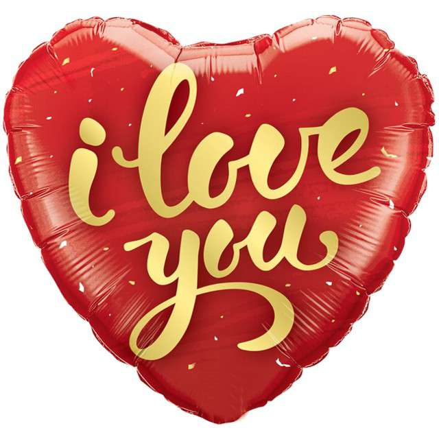 """Balon foliowy """"Serce - I Love You"""", czerwony, QUALATEX, 18"""" HRT"""