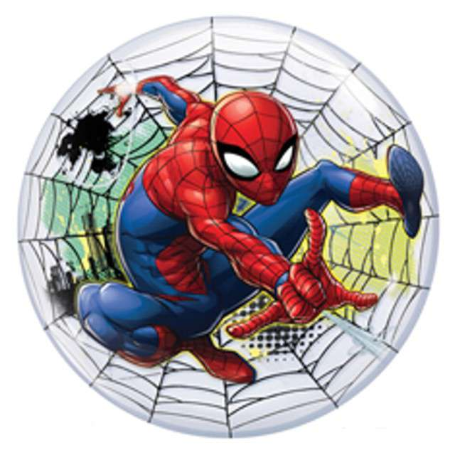 "Balon foliowy ""Spider Man Web "", Qualatex Bubbles, 22"""