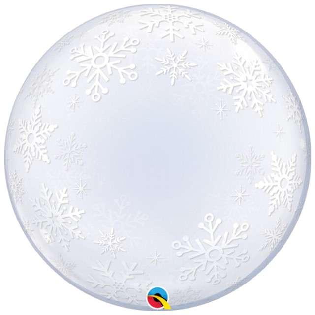 """Balon foliowy """"Płatki Śniegu"""", Qualatex Bubbles, 24"""""""