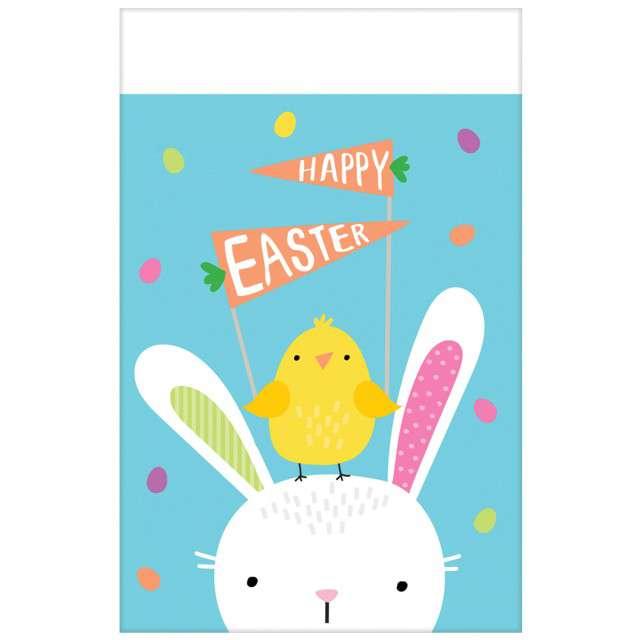 """Obrus foliowy """"Zajączek - Hello Bunny"""", AMSCAN, 180x120 cm"""