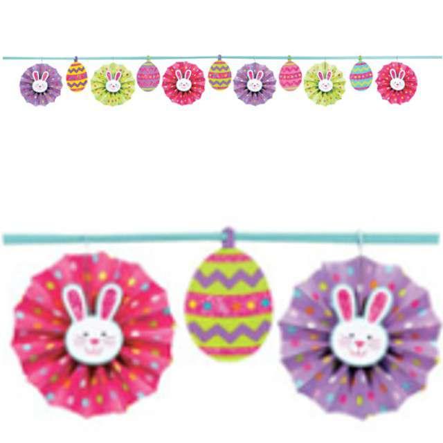"Girlanda ""Zajączek - Happy Easter"", AMSCAN, 365 cm"