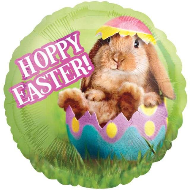 "Balon foliowy ""Avanti Hoppy Easter"", AMSCAN, 17"" RND"