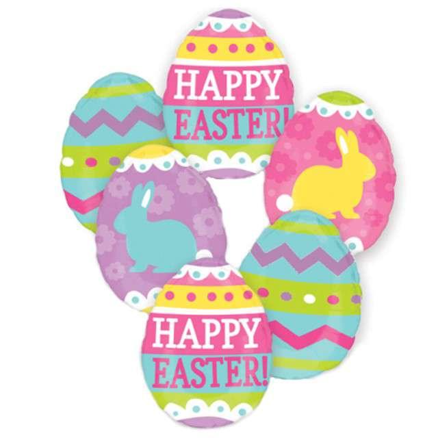 """Balon foliowy """"Pisanki - Easter Egg Hunt"""", AMSCAN, zestaw"""