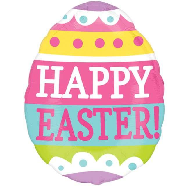 "Balon foliowy ""Pisanka - Happy Easter"", AMSCAN, 16"" SHP"