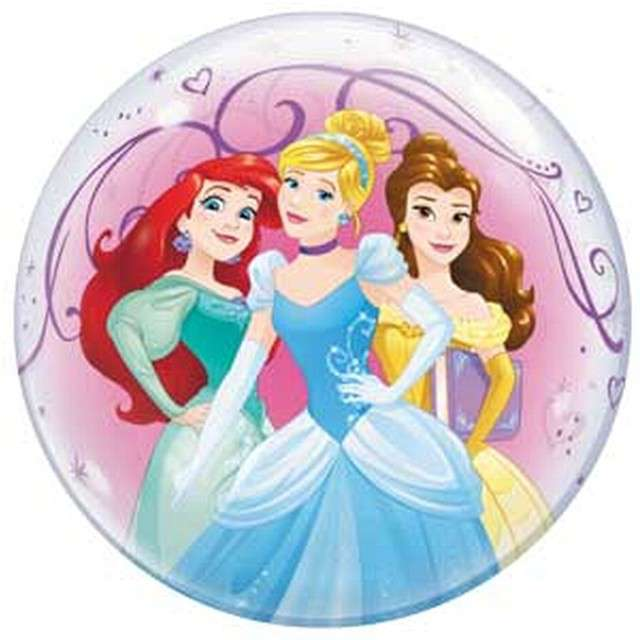 Balon foliowy Disney Princess  Qualatex Bubbles 22
