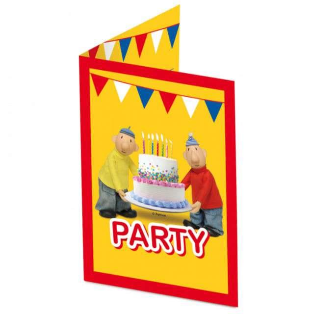 """Zaproszenia urodzinowe """"Sąsiedzi - Pat i Mat"""", FOLAT, 8 szt"""