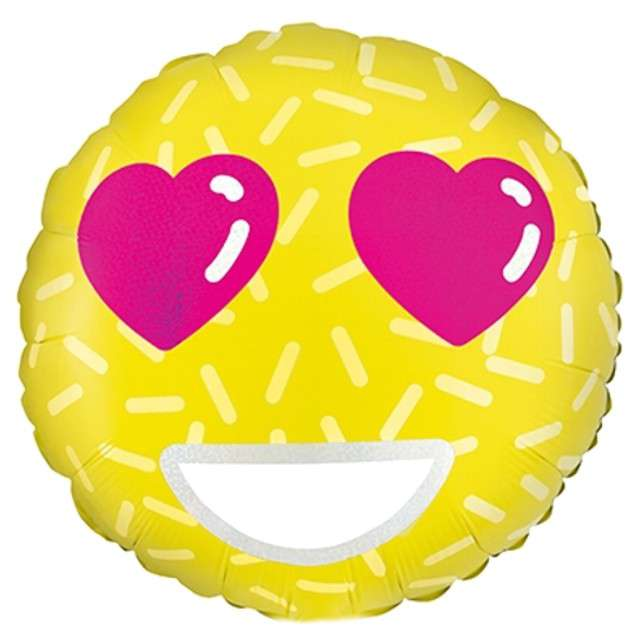 "Balon foliowy ""Emotikon - Love"", PartyDeco, 18"""