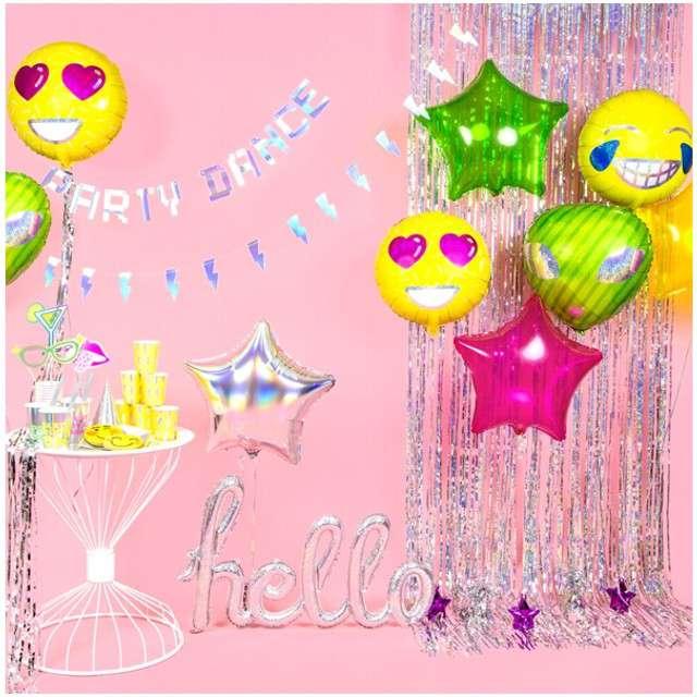 Balon foliowy Emotikon - Love PartyDeco 18