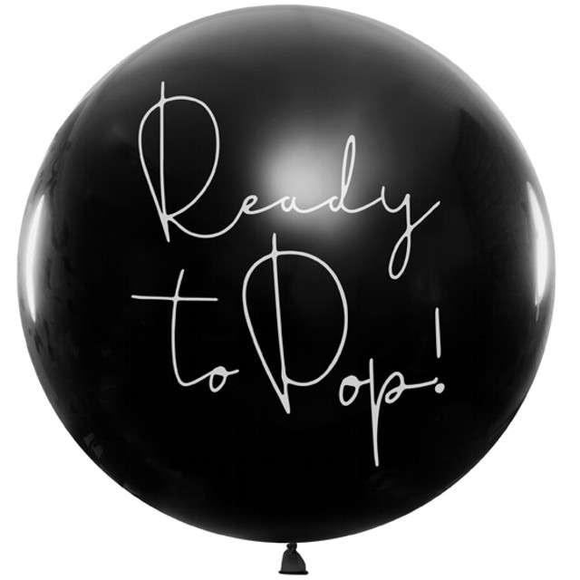 Balon Gender Reval - Chłopiec czarny 1m PartyDeco