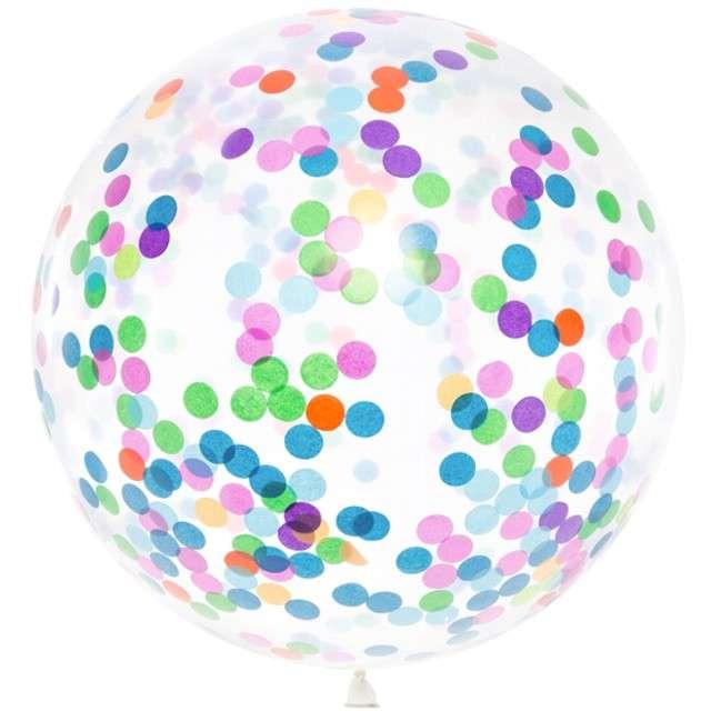 """Balon z konfetti """"Gigant"""", mix, PartyDeco, 39"""""""