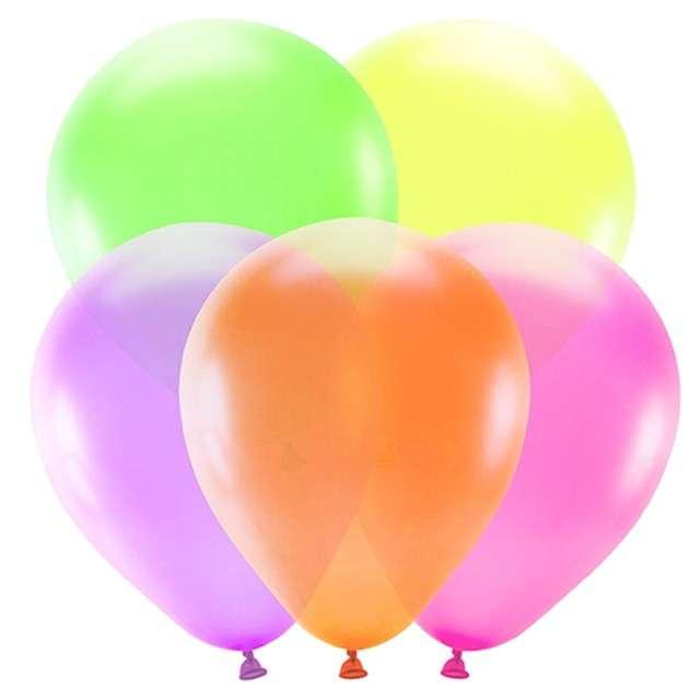 "Balony ""Neonowe"", mix, PartyDeco, 10"", 5 szt."