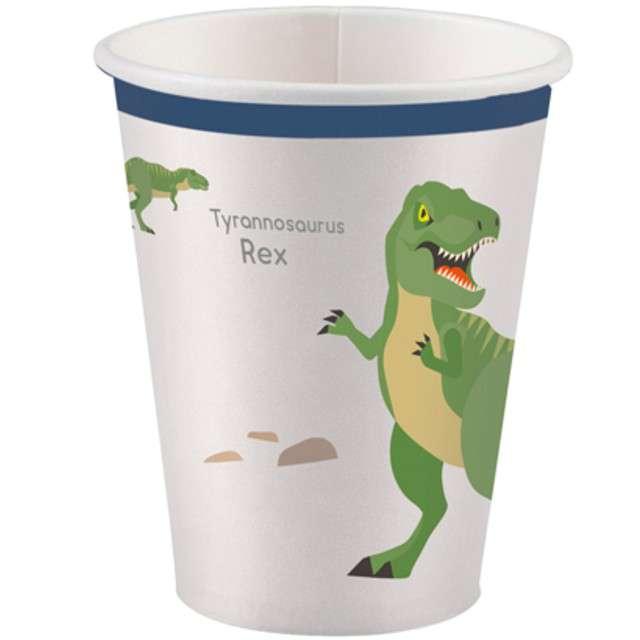 """Kubeczki papierowe """"Happy Dinosaur"""", AMSCAN, 250ml, 8 szt"""