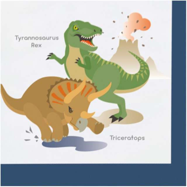 "Serwetki ""Happy Dinosaur"", AMSCAN, 33 cm, 20 szt"