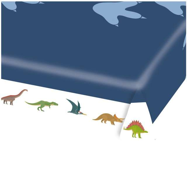 """Obrus papierowy """"Happy Dinosaur"""", AMSCAN, 175x115 cm"""