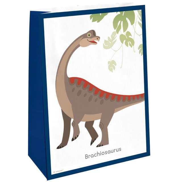 """Torebki na słodycze """"Happy Dinosaur"""", AMSCAN, 4 szt"""