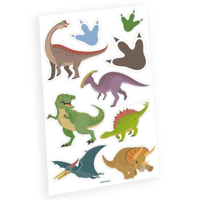 "Tatuaż Wodny ""Happy Dinosaur"", AMSCAN, 9 szt"