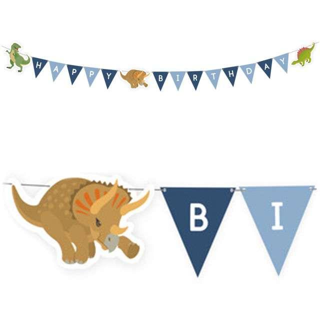 "Baner flagi ""Happy Dinosaur"", AMSCAN, 180 cm"