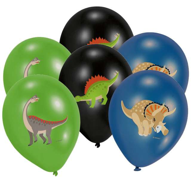 "Balony ""Happy Dinosaur"", mix, AMSCAN, 11"" 6 szt"