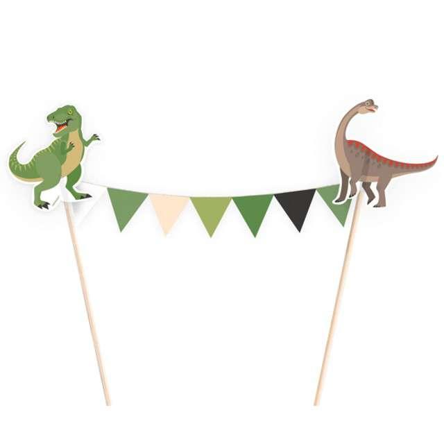 "Dekoracja na tort ""Happy Dinosaur"", AMSCAN, 20x15 cm"