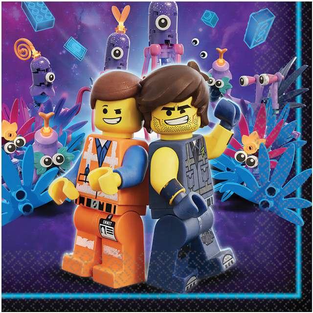 """Serwetki """"Lego Movie 2"""", AMSCAN, 33 cm, 16 szt"""