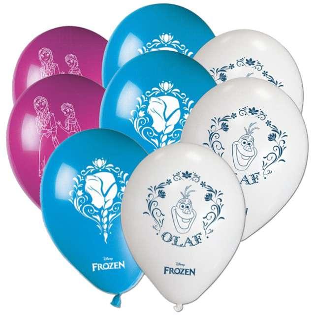"""Balony """"Frozen - Kraina Lodu"""", pastel mix, PROCOS, 10"""", 8 szt"""