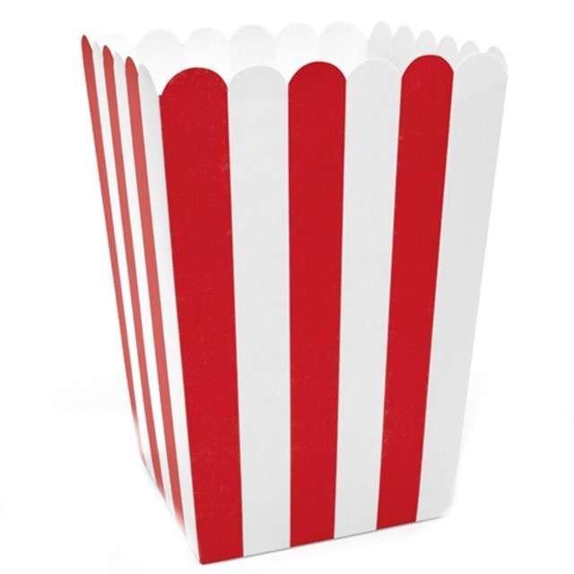 """Pudełka na popcorn """"Pirackie Paski"""", PartyDeco, 6 szt"""