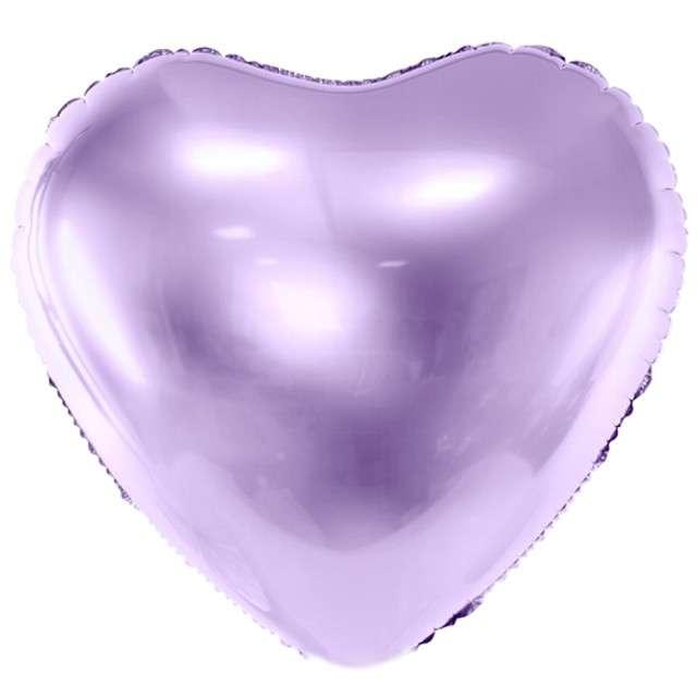 """Balon foliowy """"Serce"""", liliowy jasny, PartyDeco, 18"""" HRT"""