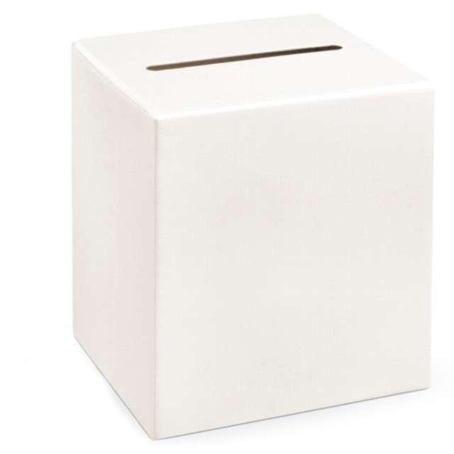 """Pudełko na telegramy """"Kwadrat"""", Party Deco, kremowy, 24x24 cm"""