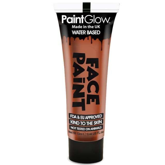 """Make-up party """"Farba do Makijażu"""", pomarańczowa ciemna, PaintGlow, 13 ml"""